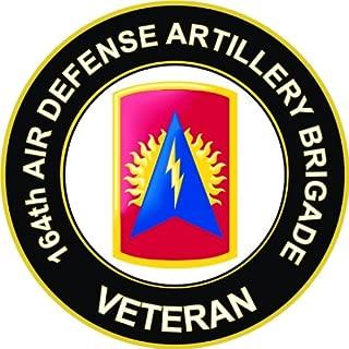 Military Vet Shop U.S. Army 164th Air Defense Artillery Brigade Veteran Window Bumper Sticker Decal 3.8
