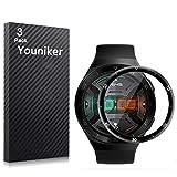 Youniker 3 Unidades Protector de Pantalla Curvo para Huawei Watch GT 2e, [Cobertura Completa] Protectores de Pantalla para Huawei Watch GT 2e Reloj SmartWatch