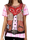 Funny World Women's Cowgirl Costume T-Shirts, X-Large, Western