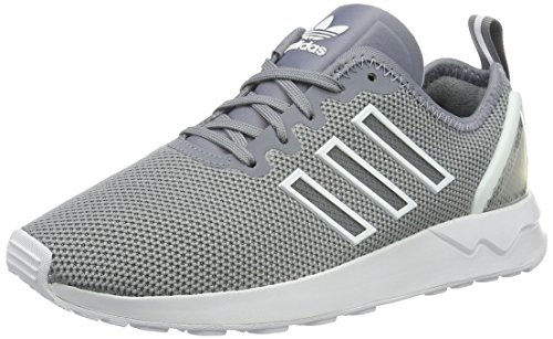 adidas ZX Flux Advanced, Unisex-Erwachsene Low-Top Sneaker, Grau (Grey/Grey/Ftwr White), 43 1/3 EU