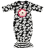 Cach Cach Black & White Daisies Gown (0/3 months)