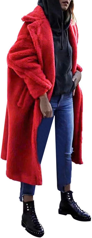 BETTERUU Women Winter Warm Thick Coat Pure color Lamb Cashmere Lapel Jacket Cardigan