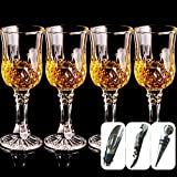 Cristal de Whisky de Cristal Diamante de Vino Tinto Set de Copa de Champán Copa de la Cocina Restaurante Bar Vasos de Vidrio de Regalo Fj040