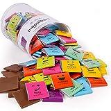 Moodibars Chocolate Candy Variety Pack   120 Gourmet Assorted Milk & Dark Mini Samplers for Office Treats   Emoji Get Well Fun Snacks & Humor Food Gift Hamper   Holiday, Thanksgiving & Birthday Gifts