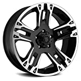 Ultra Wheel 235B Maverick Matte Black Wheel with Painted (16 x 8. inches /5 x 135 mm, 10 mm Offset)
