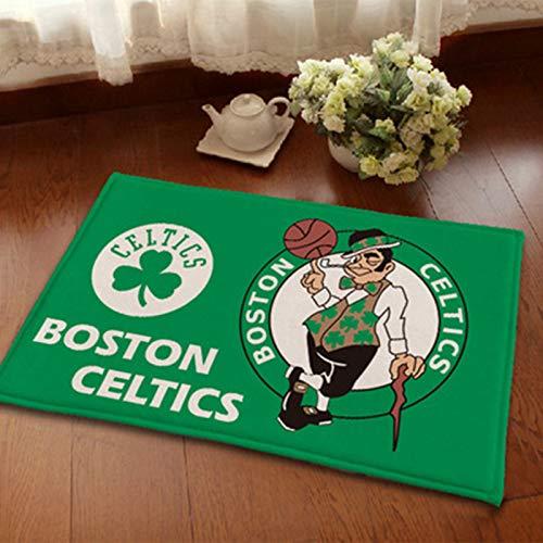 WYBY Boston Celtics Teppich-Schlafzimmer, Wohnzimmer, Studienraum Teppich-leicht zu reinigen, Nicht verblassende weiche Matte 80 * 120cm