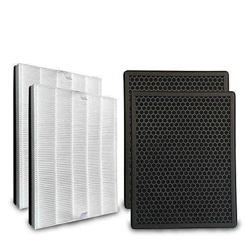 Comedes Ersatzfilterset kompatibel mit Philips AC2889, AC2887, AC2882 & AC3829 Luftreiniger | HEPA und Aktivkohle-Filter | einsetzbar statt Philips FY2422/30 & FY2420/30 (2er Set)