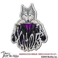 化けの皮(狼黒)-強粘着・UVカット・耐水ステッカー (3.Lサイズ)