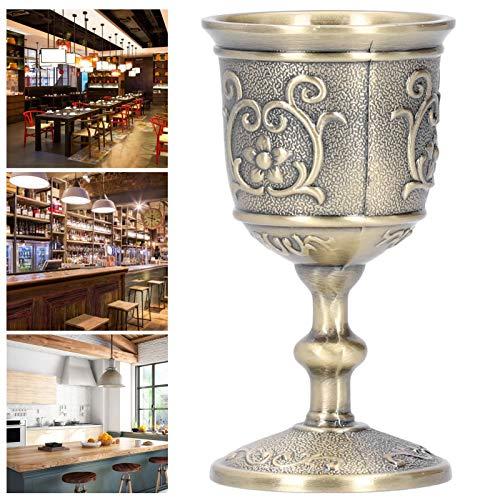 Copa cáliz, Exquisita Copa de Vino de Bronce Decorativa, Whisky Vintage para Bebidas con Leche(Small)