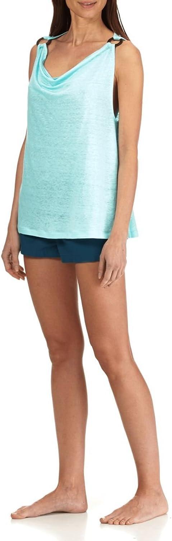 Vilebrequin Women Cowl Neck Linen Jersey Top Solid