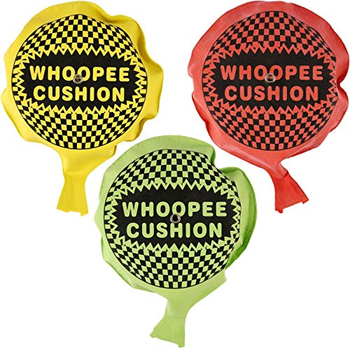 WHOOPEE CUSHION SELF INFLATING 16.5CM 4 ASTD
