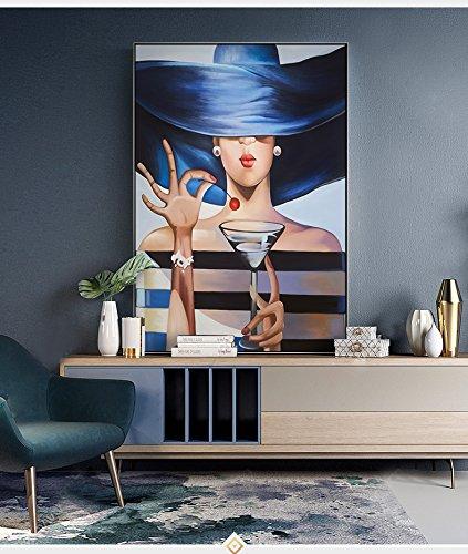 ganlanshu Fashion Elegant Lady Arte de Pared Arte de la Pared Imagen Sala de Estar Decoración del hogar,70x100cm/Pintura sin Marco