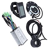 SALUTUY Kit De Controlador De Motor Eléctrico De 36 V / 48 V 250 W, Kit De Controlador De Motor Eléctrico De Aleación De Aluminio + Plástico para Motores