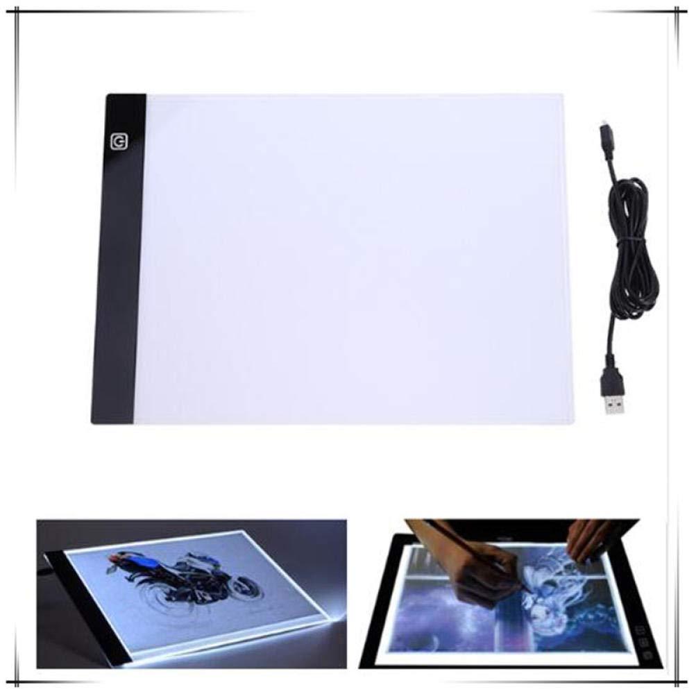 Mesa De Luz Dibujo Tableta Gráfica Led Escritura Pintura Caja De Luz Tablero De Seguimiento Almohadilla De Copia Dibujo Digital Diamante Pintura Computadora Artesanía A4 Co: Amazon.es: Hogar