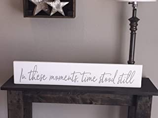 MosesMat41 Rustic Pallet in These Moments time Stood Still Sign 55x30cm Love Family Rustic Decor Farmhouse Style Fixer Upper Wooden Item