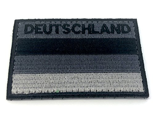 Patch Nation Deutschland Gedämpft Schwarz Flagge Cosplay Bestickt Airsoft Klett-Patch