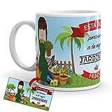 Kembilove Taza de Café de la Mejor Jardinera del Mundo – Taza de Desayuno para la Oficina – Taza de Café y Té para Profesionales – Taza de Cerámica Impresa – Tazas Profesiones de Jardineras