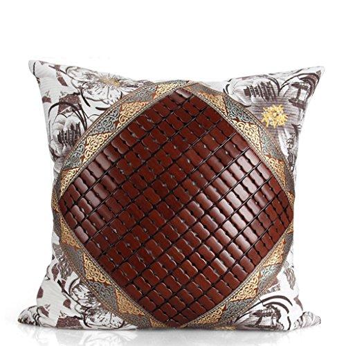 uus Coussin respirant d'été avec la couverture amovible faite de pièces de coton et de bambou naturelles appropriées pour le canapé / voiture / chaise ( Couleur : A )