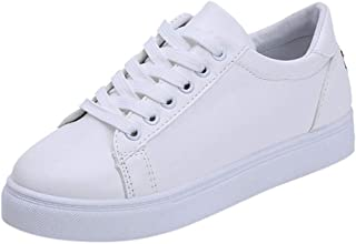 Geetobby Women's Colorful White Shoes Mens Sport Skateboard Shoes Flat Sneakers
