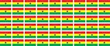 Mini Aufkleber Set - Pack glatt - 20x12mm - Sticker - Fahne - Ghana - Flagge - Banner - Standarte fürs Auto, Büro, zu Hause & die Schule - 54 Stück