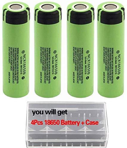 4Pcs NCR18650B Storage Holder Case Kit for Video doorbell USB Fan LED Flashlight