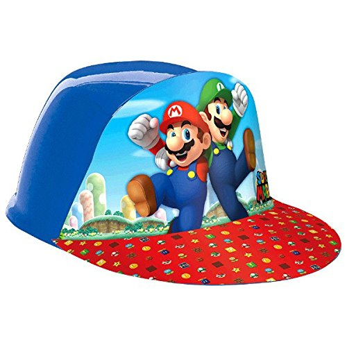 Amscan 251554 Vac Bonnet Formé avec Super Mario