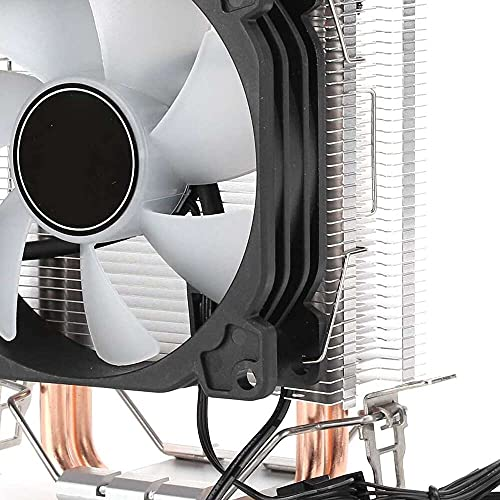 Yuyanshop CPU Cooler, CR1200 CPU Cooler 2 tubos de calor Touwer ventiladores disipador de calor para Intel GA775/LGA115X/LGA1366, para AMD FM2+/FM2/FM1/AM4