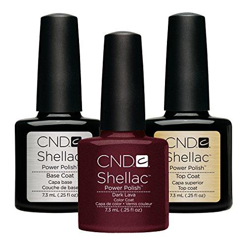 CND Original CND Shellac Dark Lava plus Base Coat plus Top Coat 7.3 ml, 1er Pack (1 x 22 ml)