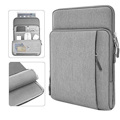 Dadanism 11 Zoll Tablet Sleeve Hülle Kompatibel mit New iPad 10.2 2020/2019, iPad Air 4 10.9 2020, iPad Pro 11 2020, iPad 9.7/Air 10.5, Wasserdicht Mehrere Taschen für Stift Smart Keyboard - Hell Grau