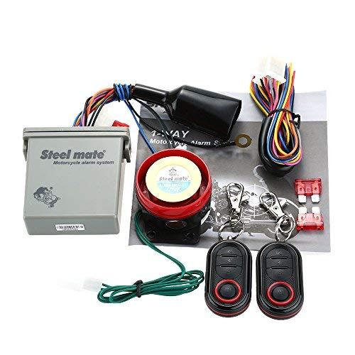 Steelmate 986E Sistema de Alarma Motocicleta de 1 vía Arranque Remoto del Motor Inmovilización del Motor con Transmisor
