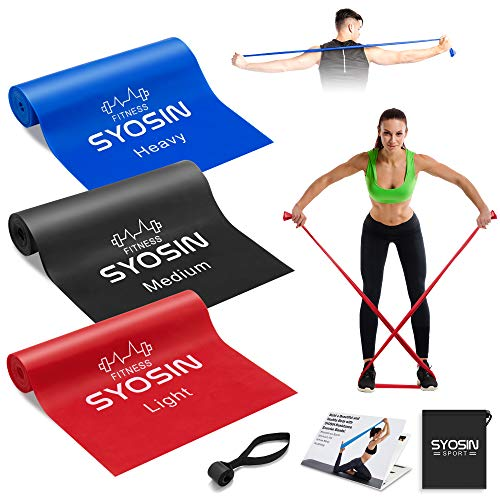 YUHENGLE Resistance Band, (set 3) Professional Exercise Band with Anchor door, for Strength Training & Fitness Workouts, Pilates, Yoga, Physical therapy and Rehabilitation, Free Exercise Guide Bookle