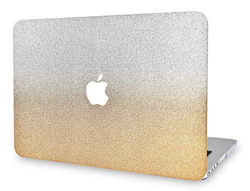 KECC - Funda rígida para MacBook Pro de 13 pulgadas Retina (-2015) (plástico duro para A1502/A1425, color plateado y dorado brillante