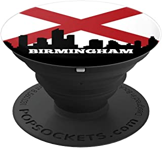 Birmingham Alabama AL Group City Flag Patriotic - PopSockets Grip and Stand for Phones and Tablets