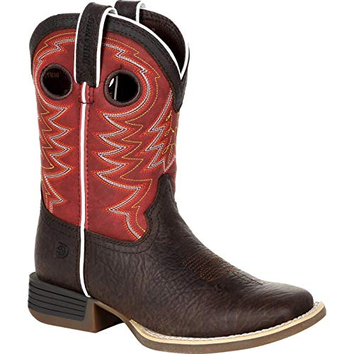 Durango Lil Rebel Pro Big Kid's Burnt Orange Western Boot Size 7(M)