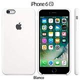 Funda Silicona para iPhone 6 y 6s Silicone Case, Textura Suave, Forro Microfibra (Blanco)