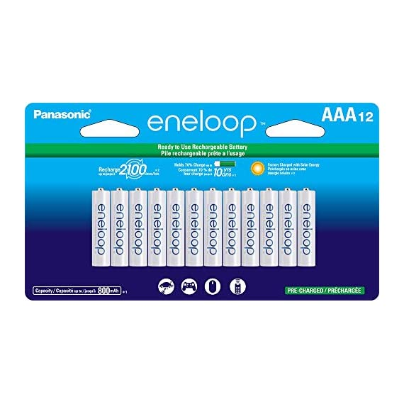 Panasonic-BK-4MCCA12FA-eneloop-AAA-2100-Cycle-Ni-MH-Pre-Charged-Rechargeable-Batteries-package-includes-12AAA-silver-or-12AAA-white
