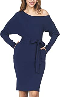 ORICSSON Women Sexy Long/Short Sleeve Bodycon Tunic Knit Pullover Sweater Work Casual Dress