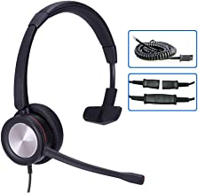 $38 » MKJ Office Headset for Cisco Phones Corded RJ9 Telephone Headset with Noise Cancelling Microphone for Cisco CP-7821 7841 6...