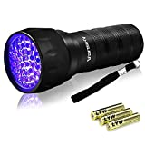 Black Light UV Flashlight,Mini 395nm 21 LED Blacklight Detector for Cat/Dog Urine, Pet Stains and Bed Bug Matching with Pet Odor Eliminator[Batteries Included]