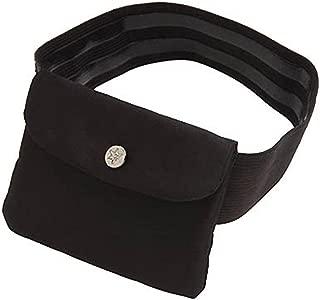 Bisadora Black Silk Garter Purse - Medium