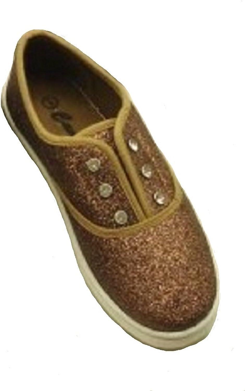 Cammie Women's Glittler Canvas Tennis shoes Brown