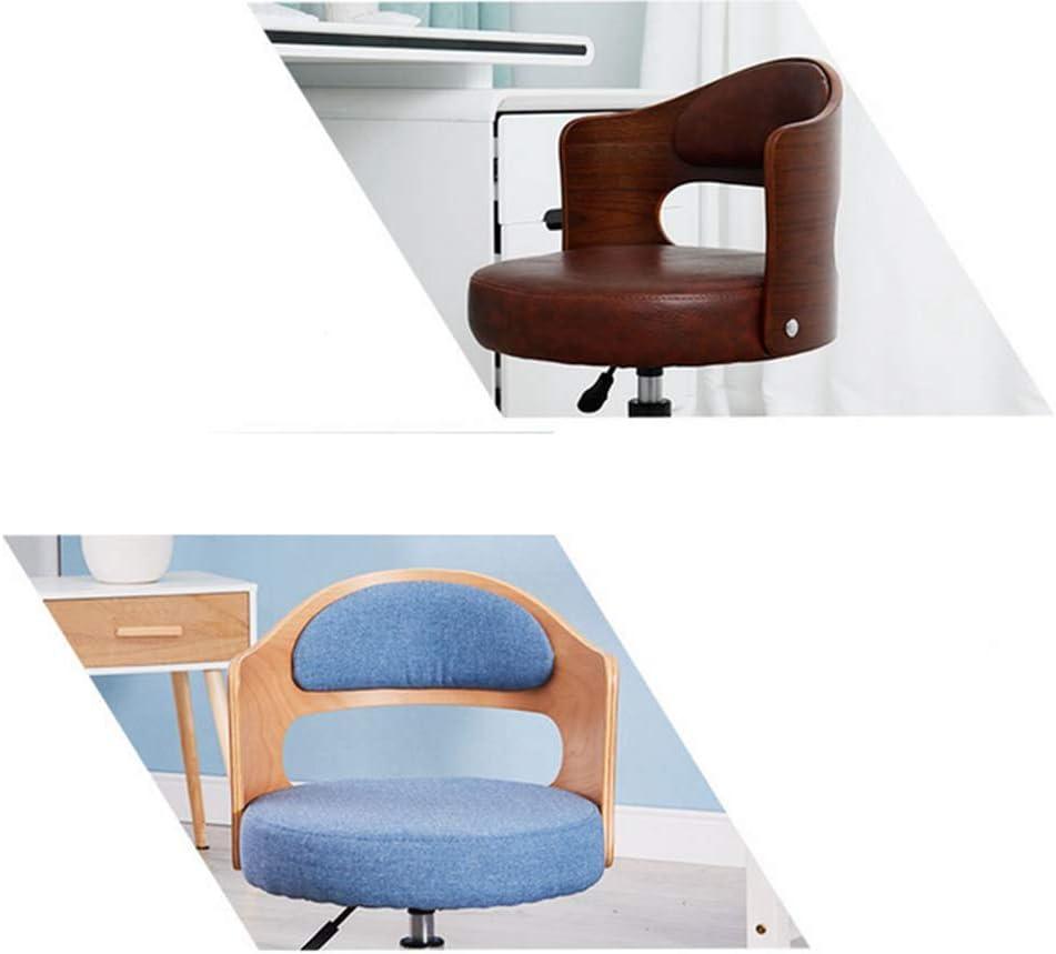 KJGLXD Bois Massif Chaise de Dossier - Compact Fauteuil pivotant Ajustable Chaise de Travail Confortable rembourré Chaise pour la Maison/Ordinateur/Bureau/Étudiant/Étude/Bureau,B F
