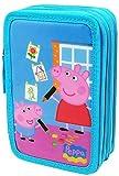 Estuche Peppa Pig Con Tres Compartimento