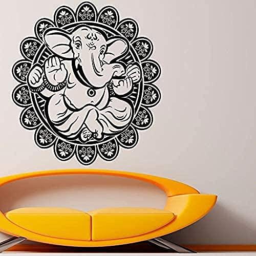 Ganesha pegatinas de pared decoración del hogar elefante maestro vinilo arte pared calcomanía impermeable extraíble 57x80cm