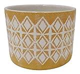 "Amazon Brand – Rivet Geometric Ceramic Planter, 6.5""H, Golden Yellow"