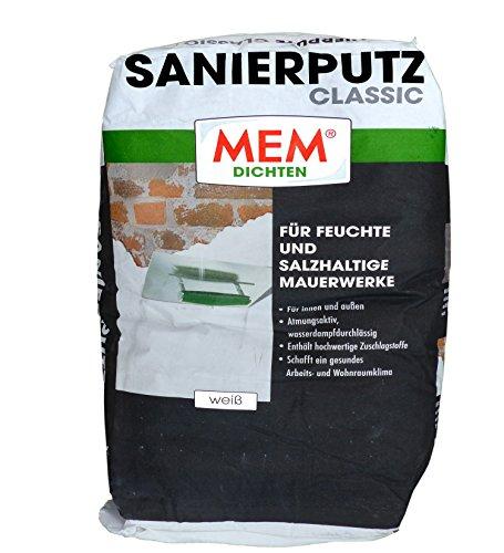 MEM Sanierputz Classic 25 kg weiss - Isoputz - Anti-Schimmelputz