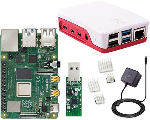 Raspberry Pi 4 Model B, 4 GB (4GB) mit ioBroker + ZigBee USB Stick Komplett-Set