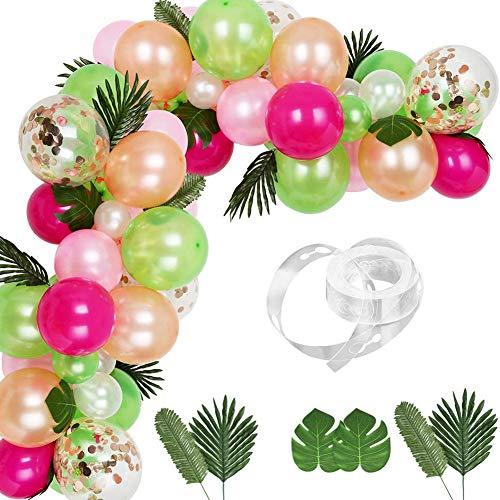 83 kit ghirlanda di palloncini tropicali fai da te ghirlanda di palloncini Luau fai-da-te per decorazione a tema tropicale festa di compleanno baby shower