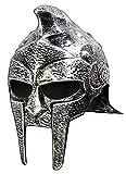 Forum Novelties Roman Gladiator Helmet, Silver, One Size