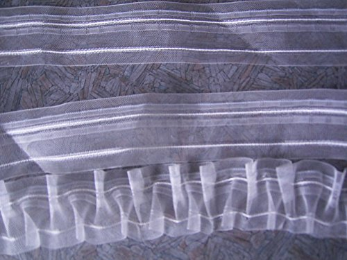 Smokband 1:2 fach transparent 11 Meter Gardinenband